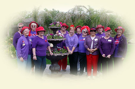 picture of the manteca red hat ladies